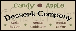 069 * Candy Apple Dessert Company Stencil 7.25x18