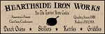 078 * Hearthside Iron Works Stencil 7.25x22
