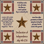 1001 * Declaration Of Independence Floor Cloth Stencil 24x24