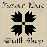 1028 * Bear Paw Quilt Shop 7.25x7.25