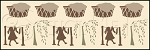 1088 * Laundry Daze Wall Border Stencil 8x24
