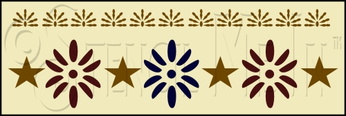 1089 * Colonial Accent Wall Border Stencil 8x24