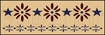 1090 * Colonial Accent Wall Border Stencil 8x24