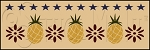 1091 * Colonial Pineapple Wall Border Stencil 8x24