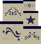 123 * Colonial Accent Shaker Box Stencil Set