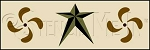 1262 * Colonial Petals& Barn Stars Wall Border Stencil 8x24