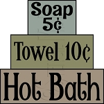 1289 * Hot Bath Stencil Block Set
