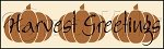 1412 * Harvest Greetings Pumpkins Stencil 7.25x24
