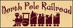 1438 * North Pole Railroad Stencil 9.25x24