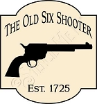 1441 * The Old Six Shooter Stencil 11.25x12