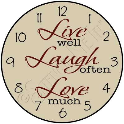 1513 * Live Laugh Love Clock Stencil 11.25x11.25