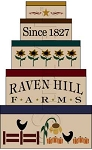 1542 * Raven Hill Farms Shaker Set Autumn Stencil