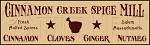 165 * Cinnamon Creek Spice Mill Stencil 7.25x24