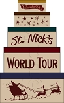 1986 * St. Nick's World Tour Shaker Stencil Set