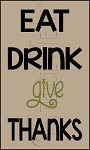 205 * Eat Drink Give Thanks Thanksgiving Stencil 7.25x12