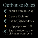2117 * Outhouse Rules Stencil 11.25x11.25