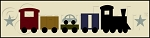 2258 * Little Cargo Train Wall Border Stencil 6x24