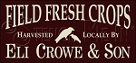 228 * Eli Crowe & Son Field Fresh Crops Stencil 11.25x24