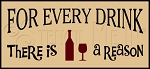 2411 * For Every Drink Wine Stencil 5.5x12