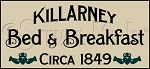 280 * Killarney Bed & Breakfast Stencil 9.25x20