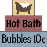 2842 * Hot Bubble Bath Stencil Block Set