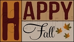 3276 * Happy Fall Stencil Set
