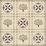 336 * Colonial Berry Tree Floor Cloth Stencil