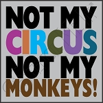 3393 * Not My Circus Not My Monkeys Stencil 11.25x11.25