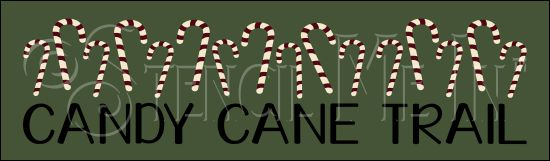 3772 * Candy Cane Trail Christmas Directional Stencil