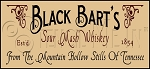 410 * Black Barts Sour Mash Whiskey Stencil 9.25x20