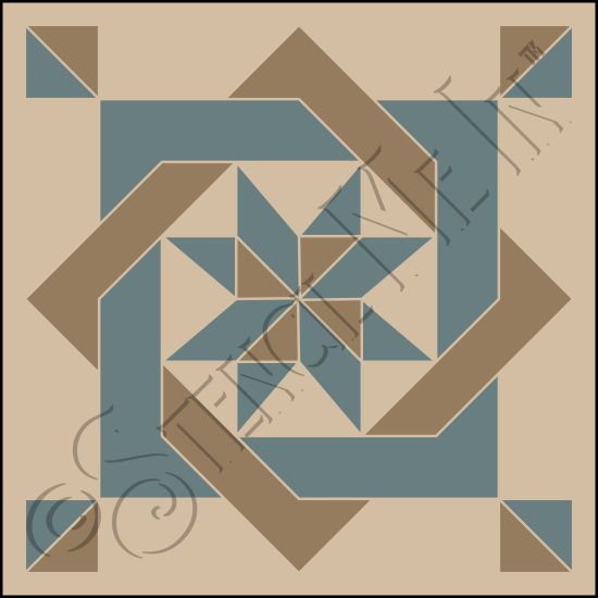 4263 * Interlocking Squares Pinwheel Barn Quilt Stencil