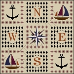474 * Mariner Star Floor Cloth Stencil 24x24