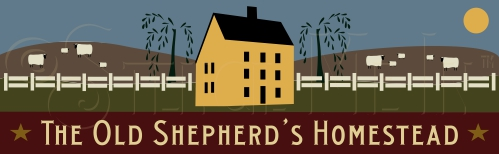 760 * The Old Shepherd's Homestead Stencil 9.25x30