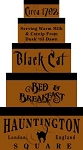 796 * Black Cat Shaker Box Stencil Set