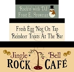879 * Jingle Bell Rock Cafe` Shaker Box Set