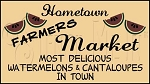 916 * Hometown Farmers Market Watermelon Stencil 11.25x20