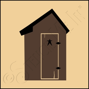 889-CA141 * Outhouse Stencil 4x4