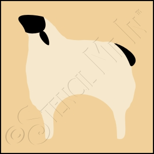 889-CA169 * Sheep Stencil 4x4
