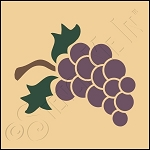 889-CA184 * Grapes Stencil 4x4