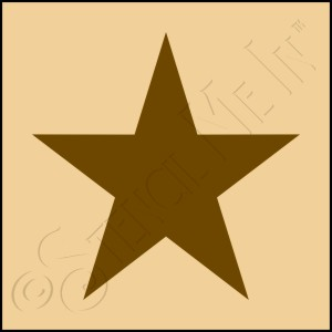889-CA257 * Traditional Star Stencil 4x4