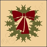 889-CA367 * Christmas Wreath 4x4