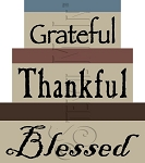 1481 * Grateful Thankful Blessed Shaker Box Stencil Set