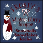 355 * Frosty's Winter Flurry Shoppe Stencil 11.25x11.25