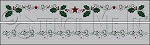 3915 * Christmas Holly Border Stencil Set