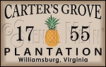 4157 * Carter's Grove Plantation Stencil 11.25x18