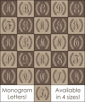 4206 * Monogram Laurel Wreath Stencil