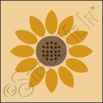 889-CA933 * Sunflower Stencil 4x4