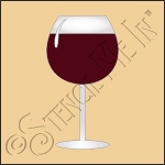 889-CA881 * Wine Glass Stencil 4x4