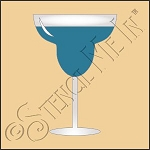 889-CA882 * Margarita Glass Stencil 4x4