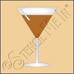 889-CA883 * Martini Glass Stencil 4x4